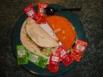 Taco Bell Doritos Taco & Fresco Soft Taco w/sauce packets