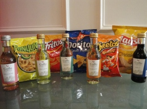 Little Bottles of Wine with Little Bags of Chips