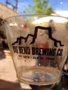 Big Bend Brewing. An empty cup means it's good!