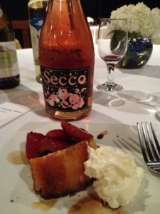 Strawberry Short Cake with Secco Rose'