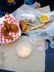 Avocado Fries & Fletcher's Corny Dog-the aftermath