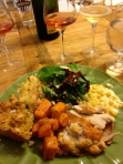 A Beautiful Plate of Thanksgiving Food