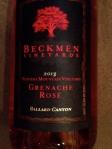 Beckmen Grenache Rose'