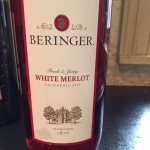 Big 'ol Bottle of Beringer White Merlot