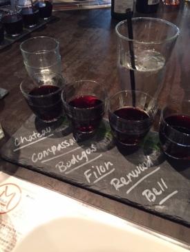Red Wine Flight at Malai