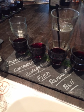 Red Wine Flight at Malai
